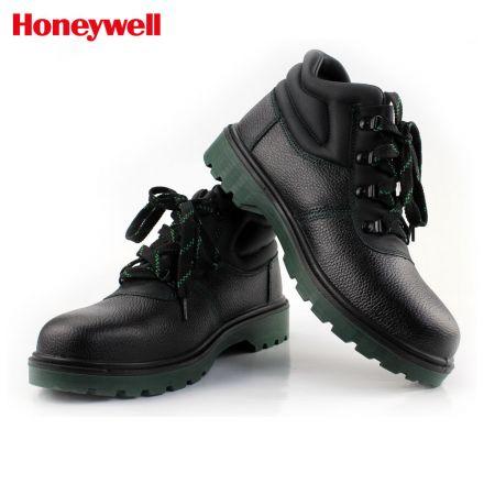 霍尼韦尔劳保鞋巴固中帮防砸防刺穿安全鞋牛皮冬季加绒劳保鞋