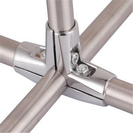 正品山东卓锐不锈钢连接件工业配件三通固定件型材专用