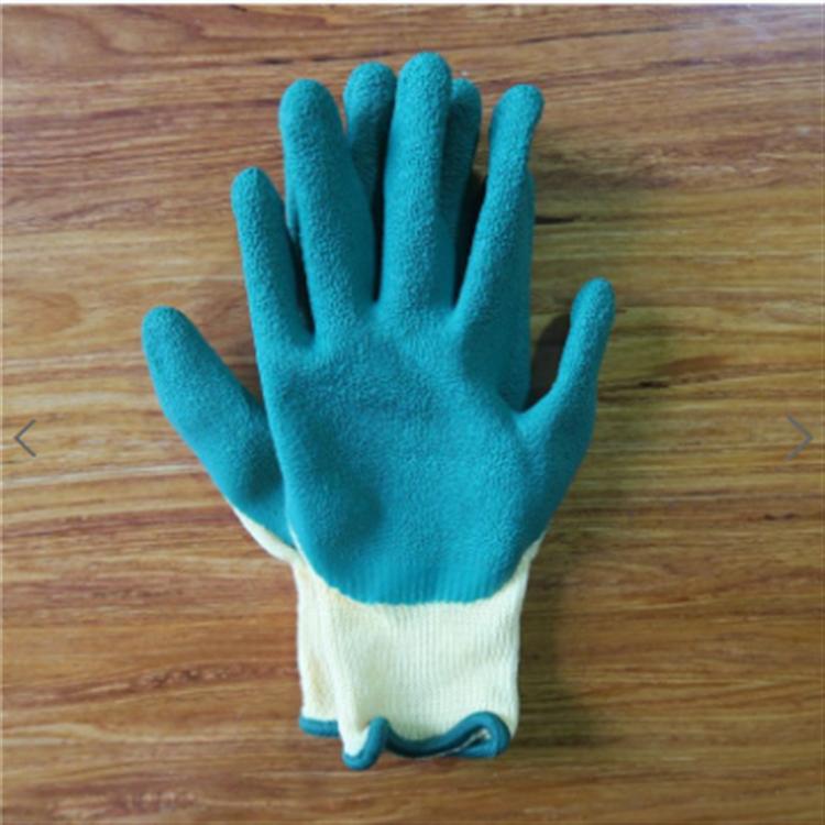 京博云商官方自营滨安耐用蓝绿线挂胶手套