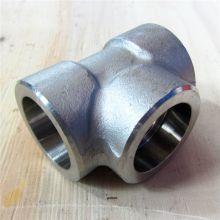 金石牌316不锈钢承插焊变径三通无缝承插三通管件