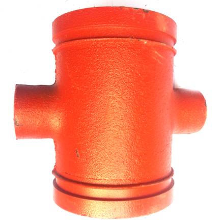 沟槽四通沟槽异径四通变径四通沟槽管件消防管件连接