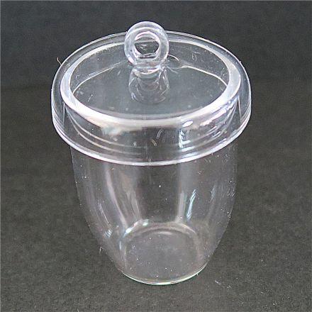 宜兴耐高温保温石英坩埚透明耐高温石英烧杯50ml
