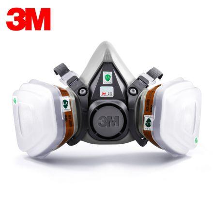 正品3M防毒面具6200防毒口罩喷漆专用防尘甲醛化工农药活性炭