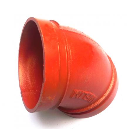 45度90度沟槽式卡箍弯头沟槽管件刚性卡弯头消防管件